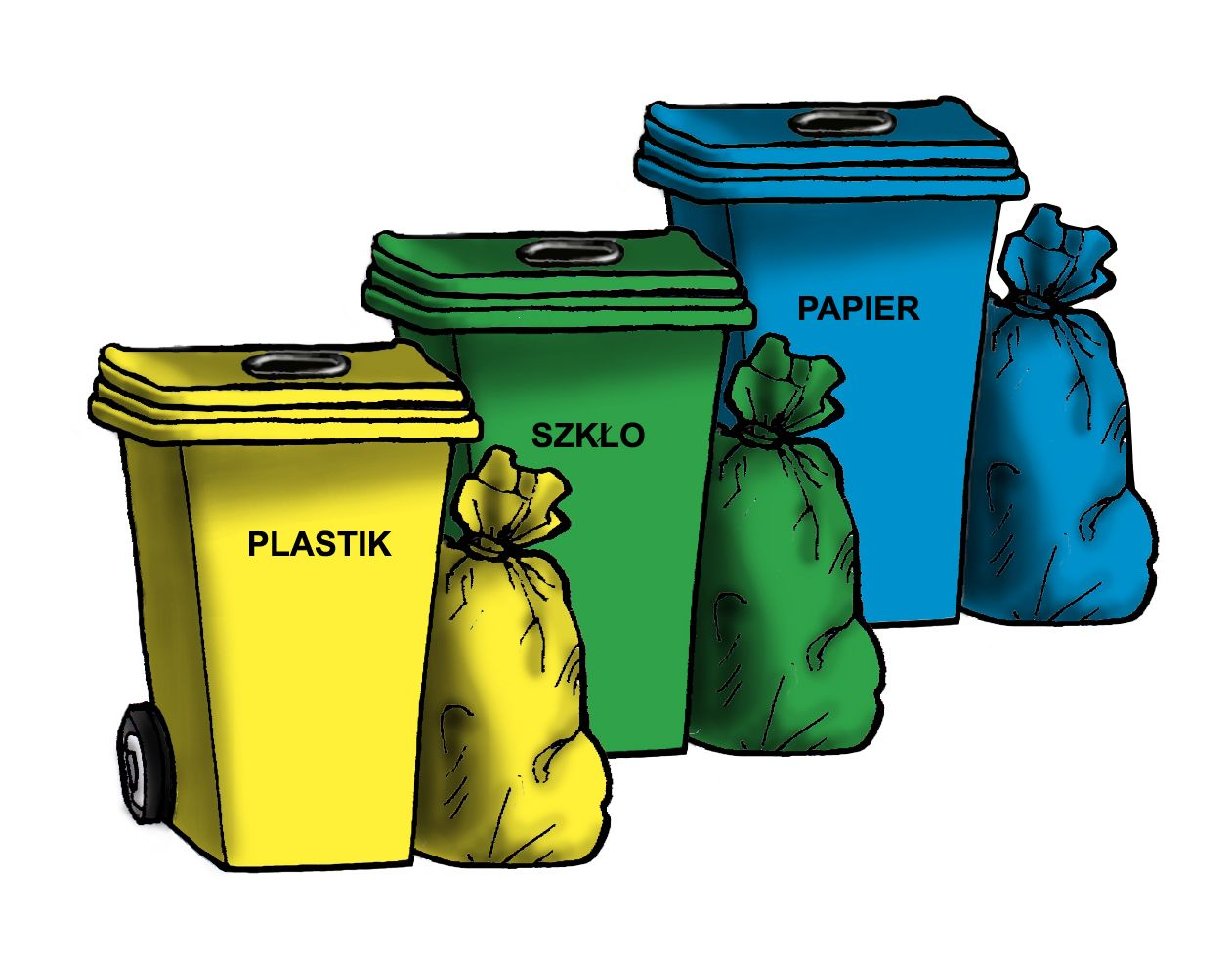 Opakowania foliowe - worki na śmieci