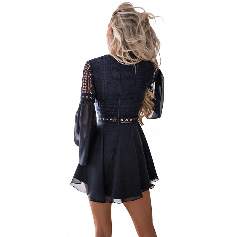 93ae58a12 Sukienka mini boho styl ażurowa koronkowa zwiewna na lato MODITO