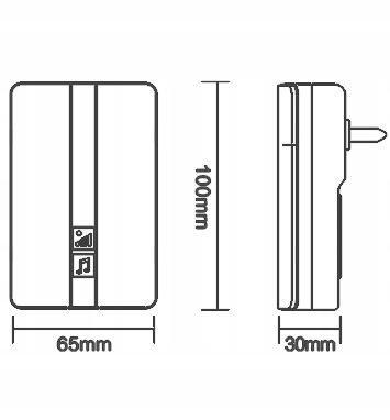 Dzwonek bezbateryjny bezprzewodowy wodoodporny L33
