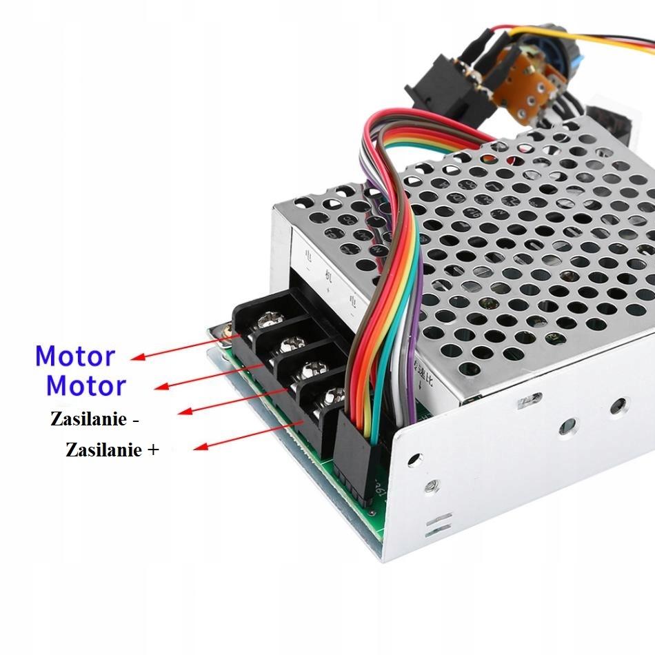 REGULATOR MOCY SILNIKA LED 12V 24V 50V 40A PWM DC