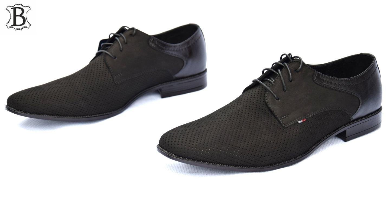 Obuwie garniturowe polskie buty skórzane 322CZ-DZ
