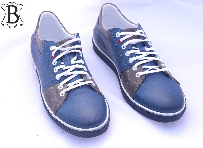 Buty polskie trampki skórzane casual L139