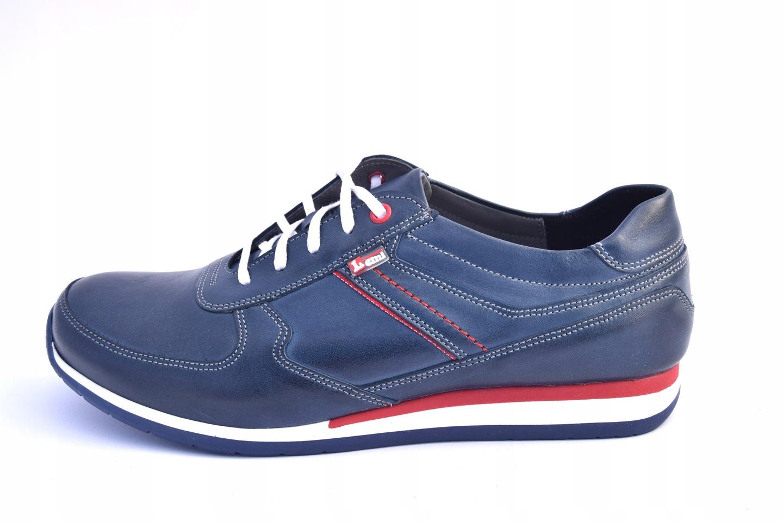 Półbuty skórzane sportowe buty polskie 919