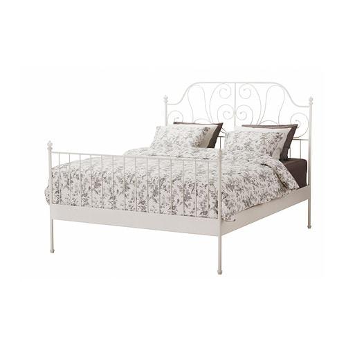 Ikea Leirvik Rama łóżka 140x200 Cm łóżko Biały