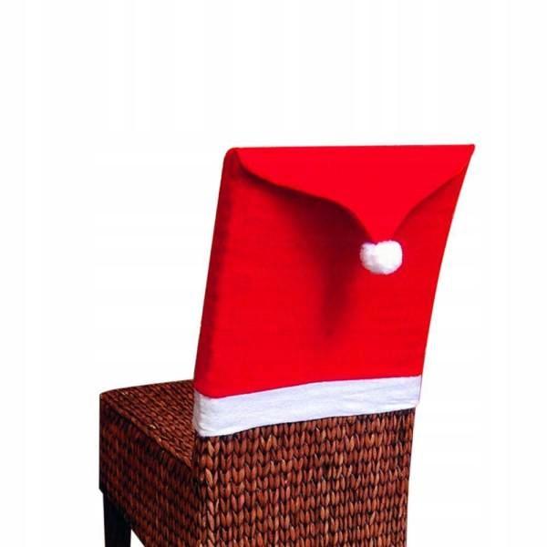 Pokrowiec świąteczny Na Krzesło Czapka Mikołaj купить в