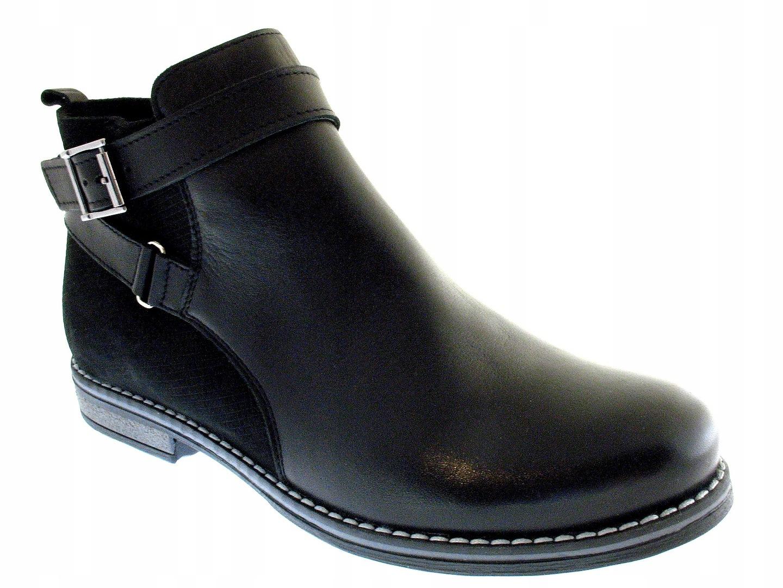 5d44164ecd641 SKÓRZANE botki damskie OCIEPLANE obuwie STELLA 38 7592309436 - Allegro.pl