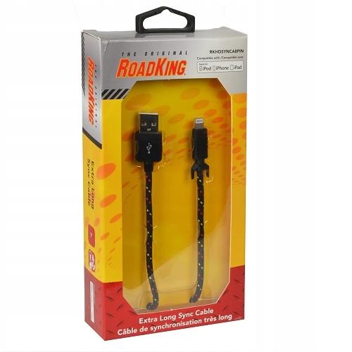 Kabel Road King Do iPhone 8-Pin Pleciony
