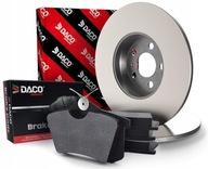 диски+колодки Зад Daco CItroen C2 c3 Peugeot 307