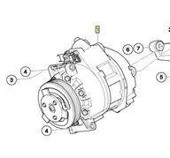 компрессор Кондиционирования воздуха BMW x5 e70 x6 E71