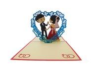 Kartka 3D, roztańczona młoda para, ślub, wesele
