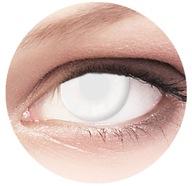 Kolorowe Soczewki CRAZY BLIND Białe HALLOWEEN