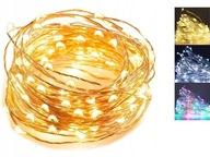 LAMPKI DRUCIKI MIKRO 20 LED 2M NA BATERIE 3-KOLORY
