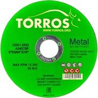 Tarcza do cięcia metalu Torros 125x1,2x22,2 tarcze