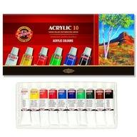 KOH-I-NOOR Farby akrylowe w tubach 16 ml 10 kol