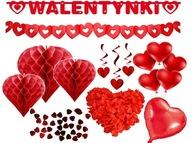 Dekoracje walentynkowe ozdoby na Walentynki ZESTAW