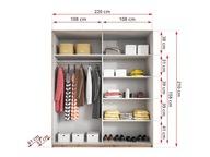 Dopłata do szafy GALAXY o szerokości 220 cm