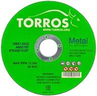 Tarcza do cięcia metalu Torros 125x1,0x22,2 tarcze