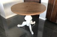 Stół okrągły dąb lefkas na jednej nodze 90/130