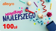 Karta Podarunkowa Urodziny - 100 zł