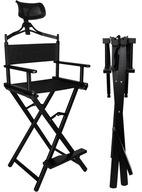 Krzesło do Makijażu Make-Up Aluminiowe + Zagłówek