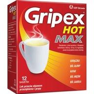 Gripex Hot Max grypa przeziębienie gorączka 12x