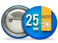 Button przypinki znaczki z nadrukiem 25mm - 50szt