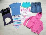 Zestaw ubrań dla dziewczynki r. 122 - 128