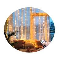 LAMPKI KURTYNA ŚWIETLNA LED 200 3X2M Ciepły Biały