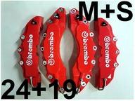 Nakładki 3D na zaciski hamulce BREMBO M+S Czerwone