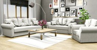 ZESTAW WYPOCZYNKOWY Skandi 3+2+1 kanapa fotel sofa