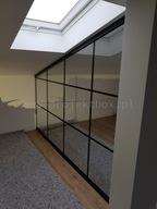 Ścianka szklana loftowa na wymiar