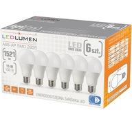 Zestaw 6x Żarówka LED E27 15W=100W CCD LEDLUMEN