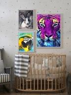 3 plakaty do pokoju dziecka ZWIERZĘTA