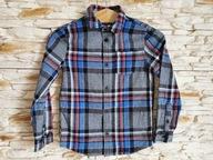 Bawełniana koszula długi rękaw *7-8 L 128 CM