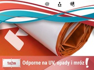 WZMACNIANY baner reklamowy 2x1m PROJEKT GRATIS