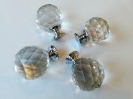 Kryształowa gałka, uchwyt 40 mm, chrom!