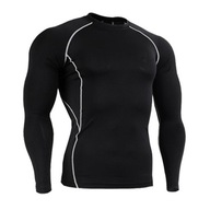 męska fitnessowa koszulka do biegania na siłownię