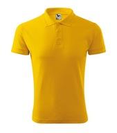 Koszulka polo męska XXL żółty PIQUE POLO 823 ADLER