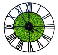 Zegar retro loft metalowy mech chrobotek 50 cm