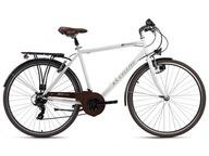 Trekkingowy Rower Męski 28 Oświetlenie Retro