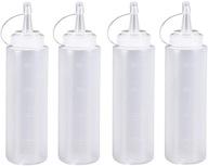 4 sztuk 200 ml Puste plastikowe wyciskane butelki