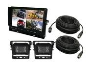Zestaw Monitor 10'' 2 x kamera cofania SONY kable