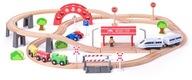Zabawki dla dzieci Duży zestaw kolejkowy Woodyland