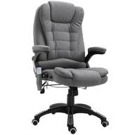 Fotel obrotowy z masażem szary