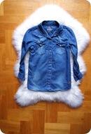 KOSZULA jeansowa 152 11-12 lat modna ŚLICZNA CUDNA