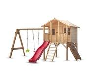 Plac Zabaw Borys 2 dla dzieci z huśtawką i ścianką