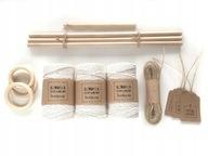 Zestaw sznurków makrama MAKRAMY sznurek BAWEŁNIANY