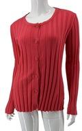 ARMANI JEANS efektowny sweter damski prążek róż 40