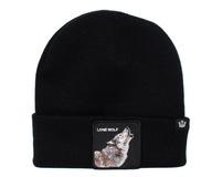 GOORIN ciepła czapka beanie zimowa WOLF MAN wilk