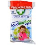 Green Shield Antybakteryjne Chusteczki 70 szt